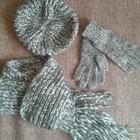 классный набор для девочки подростка берет шарф перчатки