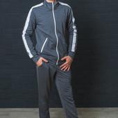 Спортивный мужской костюм темно-серый+белый 01366 (3 цвета)