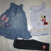Пакет вещей на девочку 9-12мес Disney Мини маус (лосины сарафан туника)