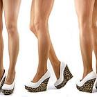 Туфли женские белые леопард Т380 р.38,39