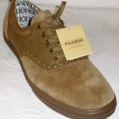 (43,44,45) Замшевые шикарные туфли Pull & Bear!