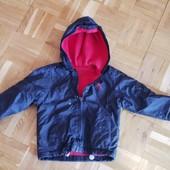 Куртка ветровка с теплой подкладкой. Размер- 92/98 2-3 года.