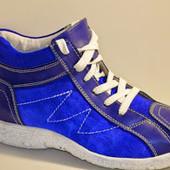 Ботиночки кеды синие Д394 р.36,39,40,41