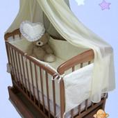 Все для сна! Кроватка маятник с ящиком, матрас кокос, постельный набор