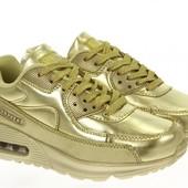Женские кроссовки Air Max в цвете золота