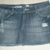 ✿ Рваная✿ брэндовая джинсовая юбка 38 евр.