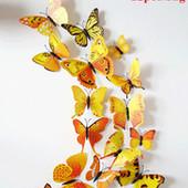 Бабочки наклейки на стену или холодильник  11 12 штук в упаковке.