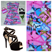 Нежное и яркое платье Pink Woman для лета   100  хлопок