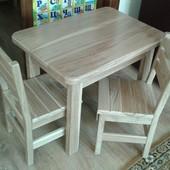 Дитячий столик стілець з дуба детский столик стул стільчик стол