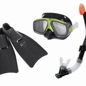 Набор для плавания маска, трубка, ласты Intex/Интекс: 41-45 размер (Intex 55959)