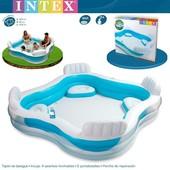Надувной бассейн Intex 56475 с сиденьями, Интекс