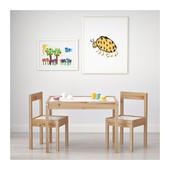 Стол и два стульчика Lätt, сосна. Икеа (Ikea)