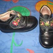 Деми ботинки кожаные р-р 22 (по стельке 14 см.)
