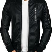 Мужская куртка из качественной искуственной кожи