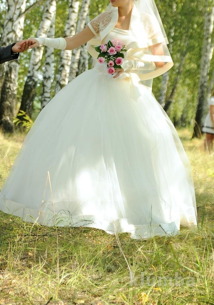 Красивое пышное свадебное платье ! 40-44 фото №1
