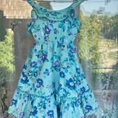 Цветочный летний сарафан для девочки 3 -4 года ( 98 -104)