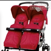 Peg perego aria twin red коляска для двойни