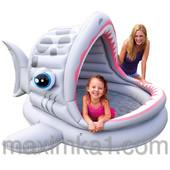 Бассейн 57120 детский, акула, с навесом