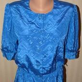 Шикарная яркая атласная блуза, р.46-48
