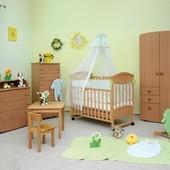 Детская кроватка Верес ЛД4 Зайка (Бук) резьба