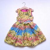 Платье в тюльпанах для девочки 4 лет