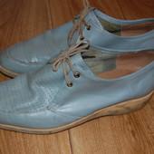 Распродажа! Туфли мужские кожаные на танкетке, стелька - 28 см