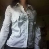 Необычная ассиметр.блуза, стильный плащик, и брендовые платья.