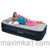 Велюр кровать 67732 односпальная, с подголовником, со встроенным электронасосом 220 V, 203-102-48,см