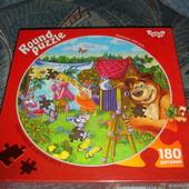 Новинка Пазлы форма круга D30см 180 элементов Danko toys