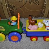 Музыкальный трактор с прицепом Kiddieland