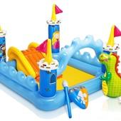 Детский водный игровой центр-бассейн Волшебный замок Intex: 185х152х107см