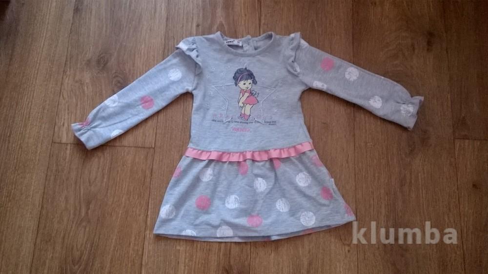 ae5978fb4d4 Классное трикотажное платье для девочки 80-86 см фото №1