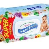 Салфетки влажные Беби суперфреш  Baby Superfresh 120шт. в упаковке с клапаном для детей и мам
