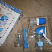 Молокоотсос Canpol + поильник Ikea + стеклянная бутылочка