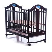 Детская кроватка Baby Care BC-433M черный темный орех