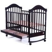 Детская кроватка Baby Care BC-419bc черный темный орех