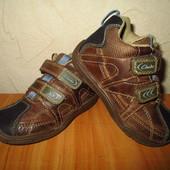 Стелька 15см  UK 7 Кожаные деми ботинки Clarks мальчику