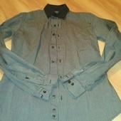 Приталеная удлиненная рубашка oodji man  176|38 можно подростку