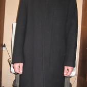 Продам мужское черное шерстяное пальто