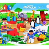 Конструктор 5091 детский Зоопарк JDlT , крупные детали, аналог Лего