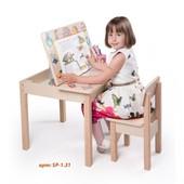 Вальтер Стол-парта с фотопечатью и стулом