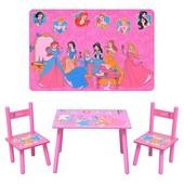 Детский столик M 1109   Принцессы   для девочки