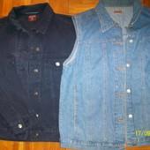 Жилетка + куртка джинсовая L/XL-46-50. Унисекс.