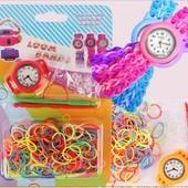 Часы детские Rainbow Loom bands набор резинок для плетения браслетов