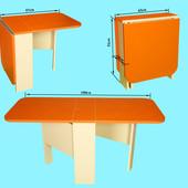 Стол пенал трансформер оранжевый