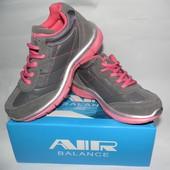Яркие классные кроссовки Air Balance (США) на девочку, размер 33-35