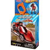 Распродажа - Rонструктора с механическим ускорителем  гоночный автомобиль Mega Bloks Hot Wheels