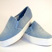 Стильные джинсовые слипоны 6-38