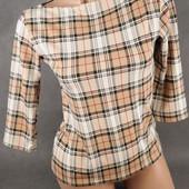 Бронь блузка-кофта расцветки Burberry от Clockhouse, 10 размер