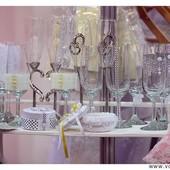 Декор бокалов на свадьбу. Оформление свадебных бокалов любой сложности.